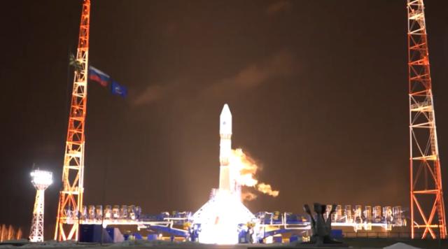 """Минобороны показало запуск ракеты """"Союз-2.1в"""""""