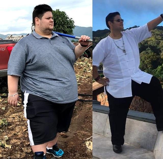 Эндрю Зед из Сиднея смог сбросить 201 килограмм без спортзала и диет (8 фото)