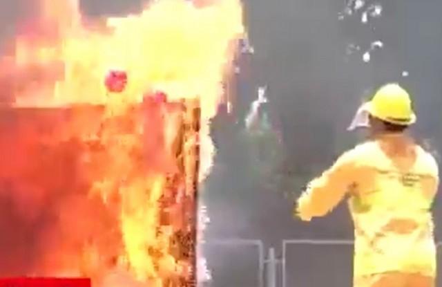 Новый способ пожаротушения
