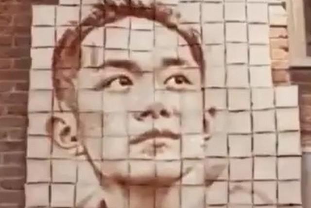 Из чего сделан этот портрет?
