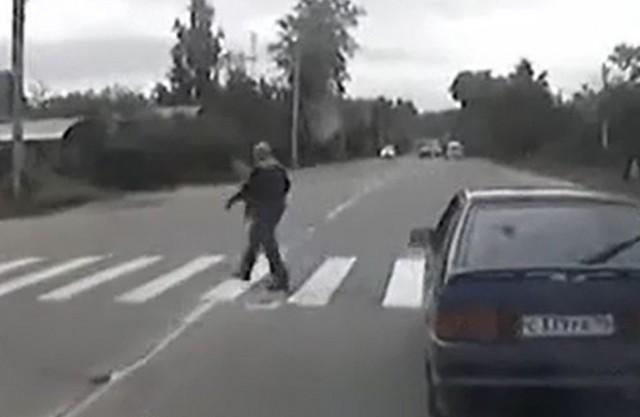 Кто это у нас тут сбил пешехода на переходе…