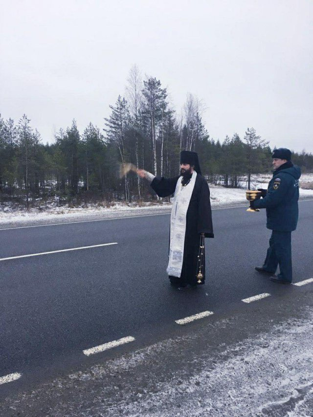 В Сегежском районе Карелии нашли способ профилактики ДТП (3 фото)