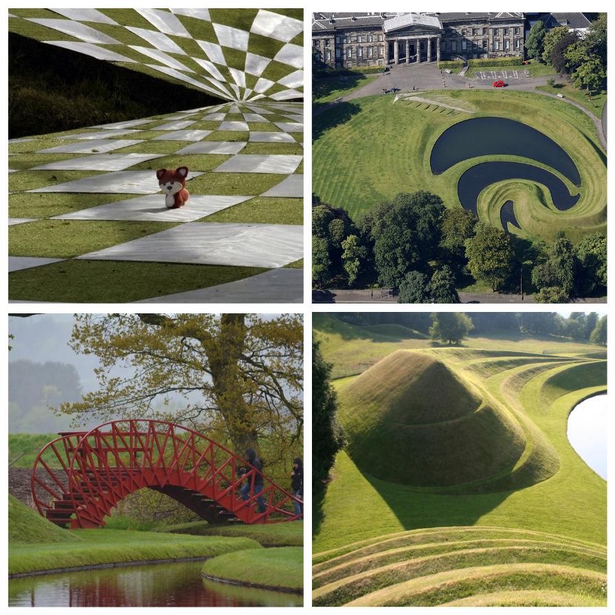 Сад космических размышлений в Шотландии (9 фото)