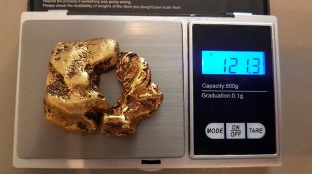 Золотоискатель нашел в реке «пончик», который у него хочет отобрать правительство (3 фото)