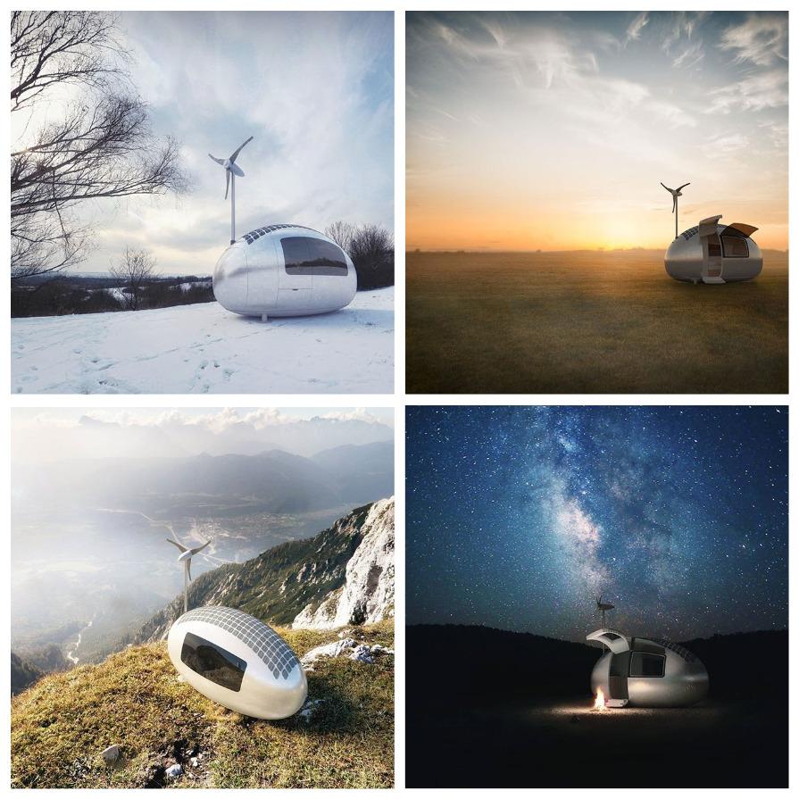 Эко-капсула, в которой можно жить где угодно (9 фото)