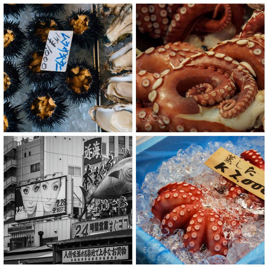 Токийский рынок Цикудзи: крупнейший в мире рыбный рынок (9 фото)