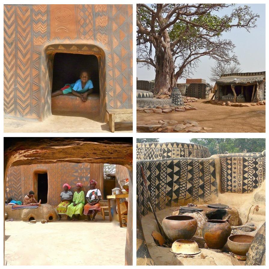 Африканская деревня, в которой каждый дом произведение искусства (7 фото)