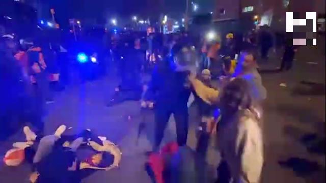 """Что творилось на улицах Барселоны после игры каталонцев с """"Реалом"""""""