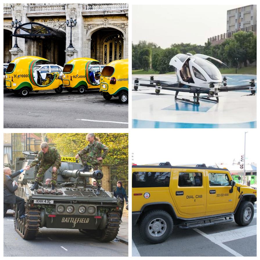 Самые необычные такси в мире (5 фото)
