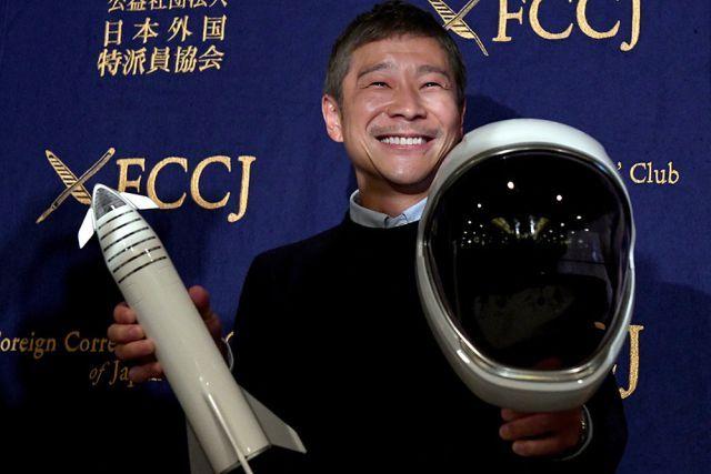 Космическая любовь: Японский миллиардер Юсаку Маэдзава ищет подругу для полета на Луну