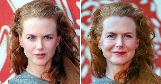 Какой бы была внешность знаменитостей, если бы они старели как простые люди (10 фото)