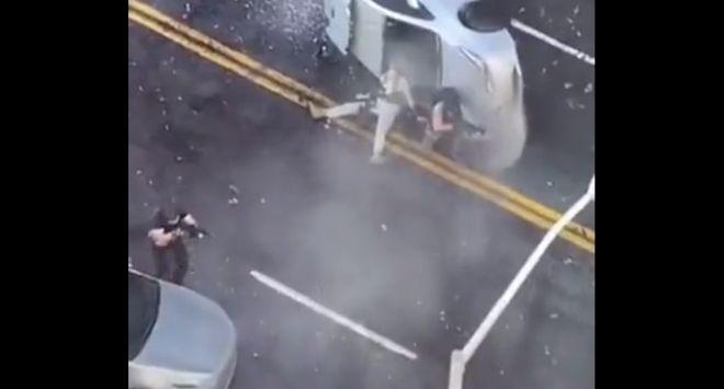 Съемки боевика на улицах города