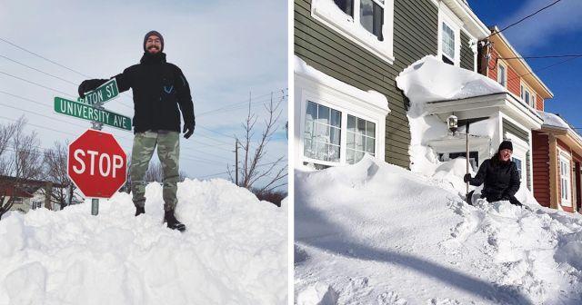 В Канаде выпало рекордное количество снега (18 фото)