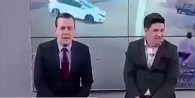 Опасная работа у телеведущих