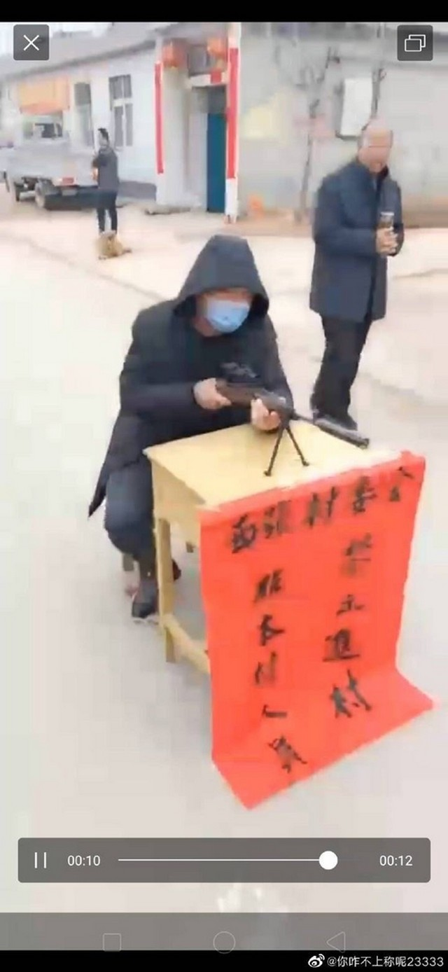 Карантинные посты в китайских деревнях (4 фото)