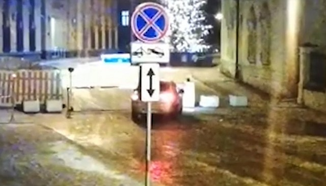 Странная авария в центре Москвы