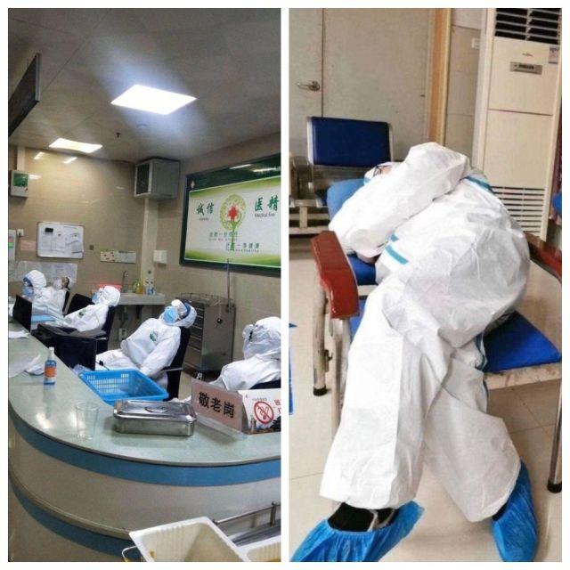 Что происходит в больницах Ухани (4 фото)