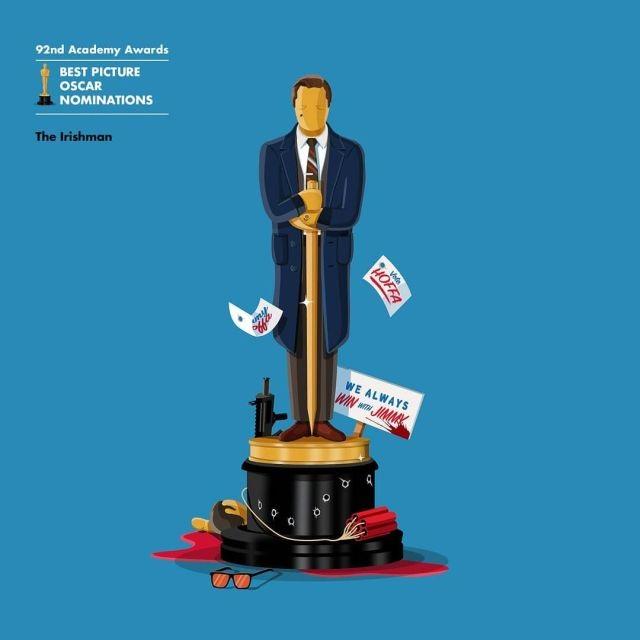 """Красноречивые иллюстрации номинантов на """"Оскар-2020"""" (9 фото)"""