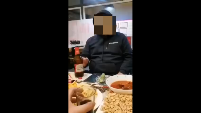 Когда пригласил друга из Китая выпить пива
