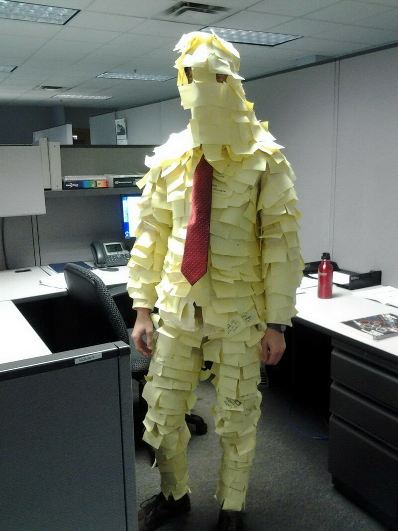костюм из стикеров