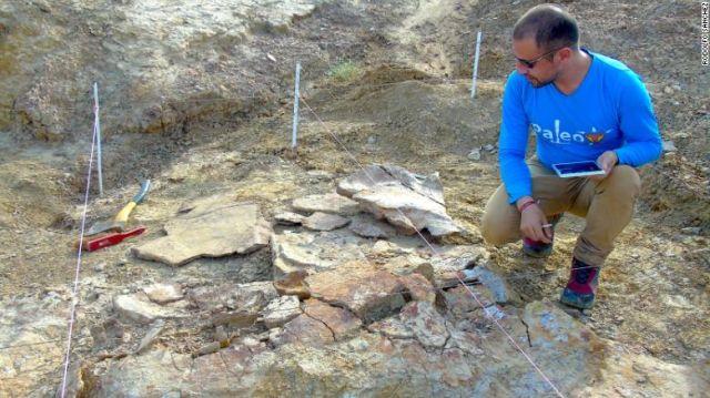 археолог и останки