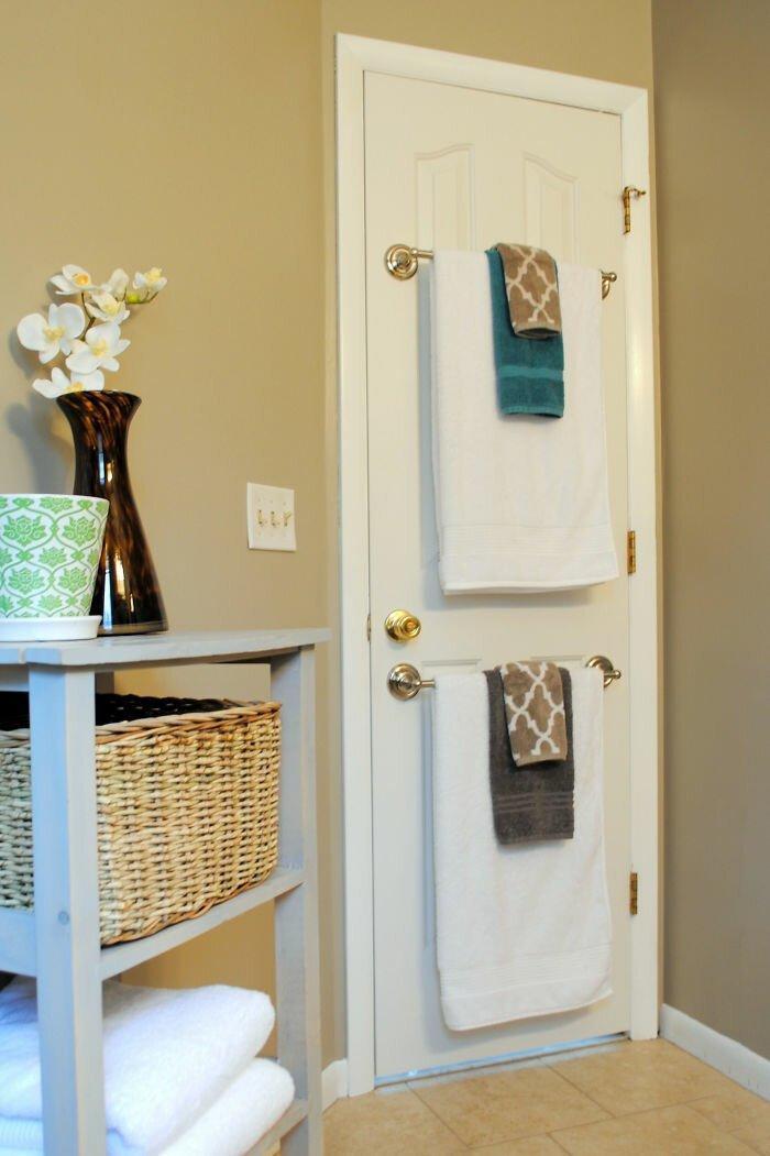 вешалки для полотенец на дверь