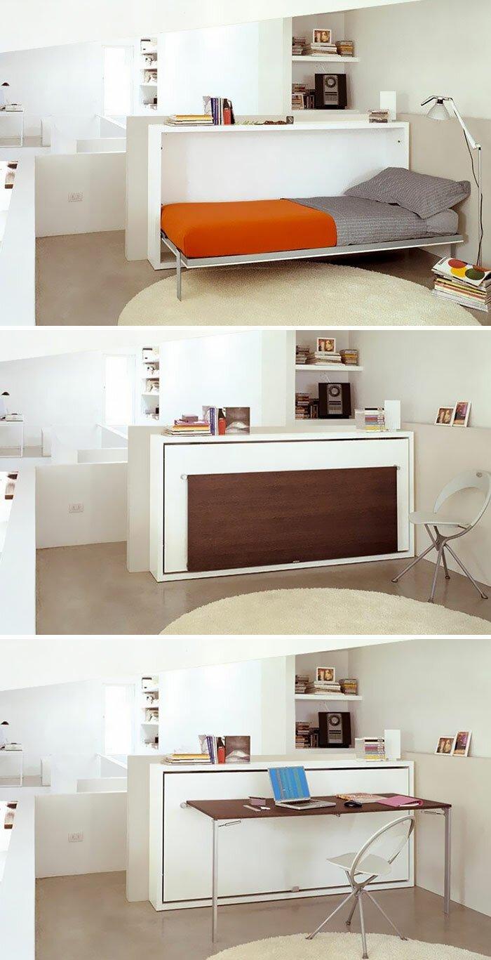 кровать совмещенная с рабочим столом