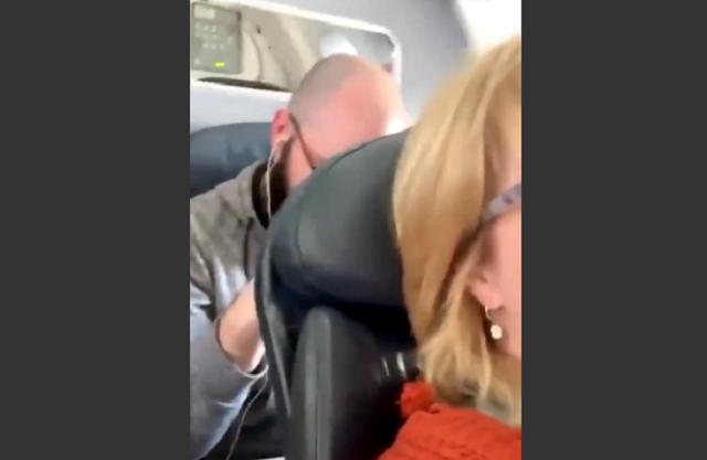 Конфликт пассажиров в самолете