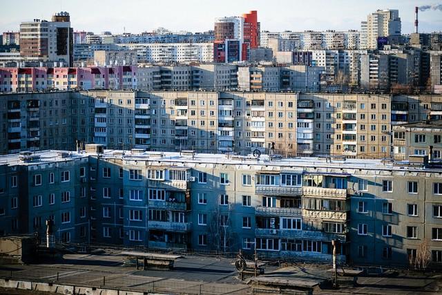 Дома в спальном районе Челябинска