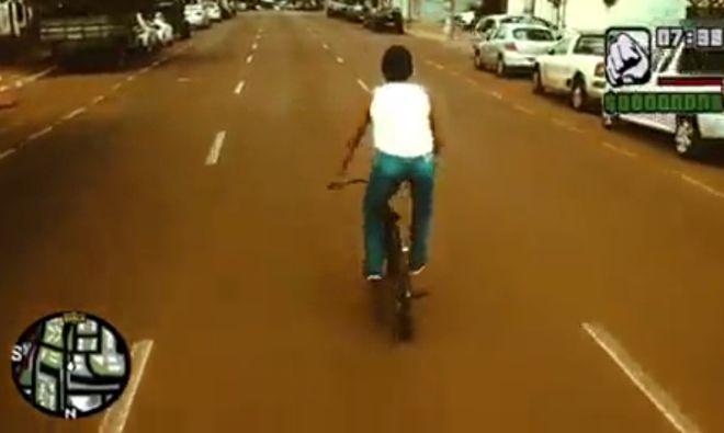рекламный ролик в стиле GTA San Andreas