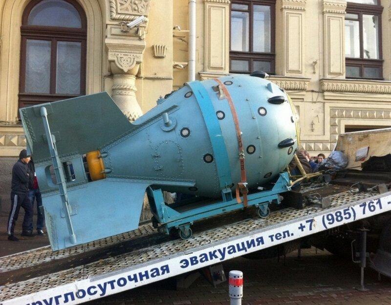 бомба на эвакуаторе