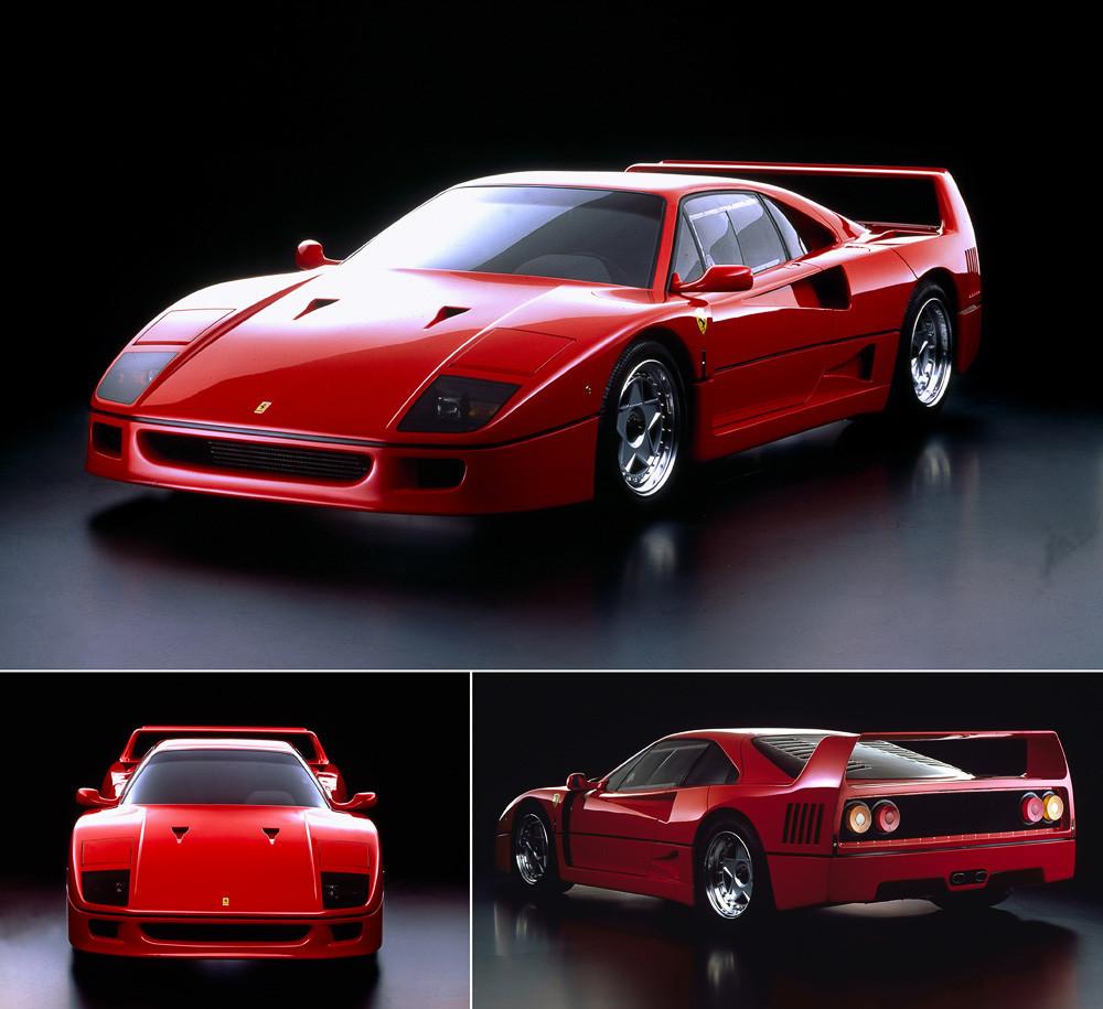 Красный Ferrari F40