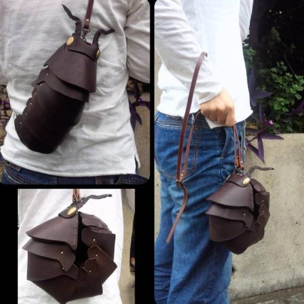 Кожаная сумка в виде насекомого