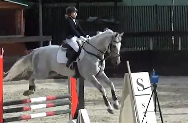 Ульяна Захарченко на коне по кличке Алигарх
