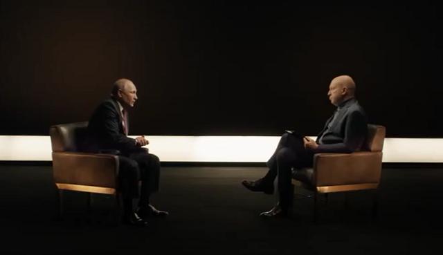 Путин дает интервью