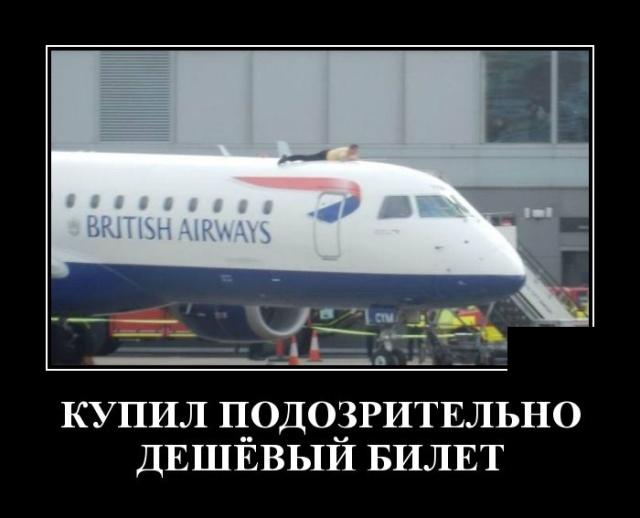 Демотиватор про пассажиров самолета