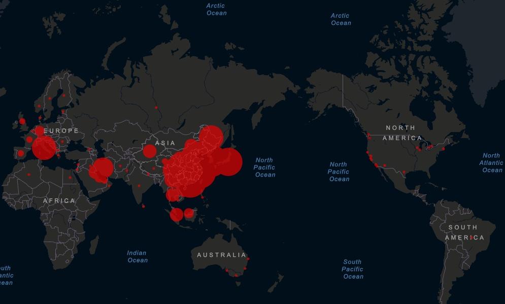 Коронавирус на карте мира