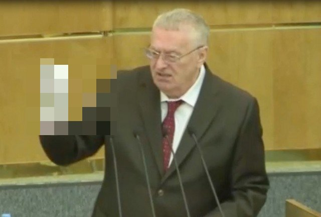 Владимир Жириновский в Госдуме в белых перчатках