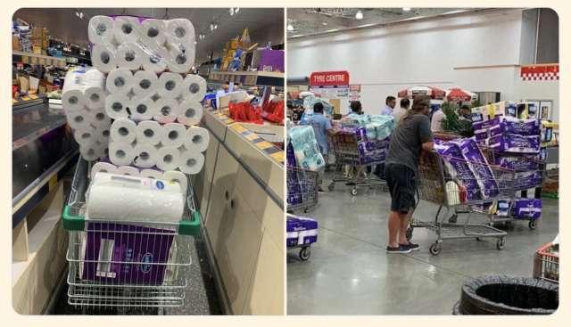 Туалетная бумага в супермаркете