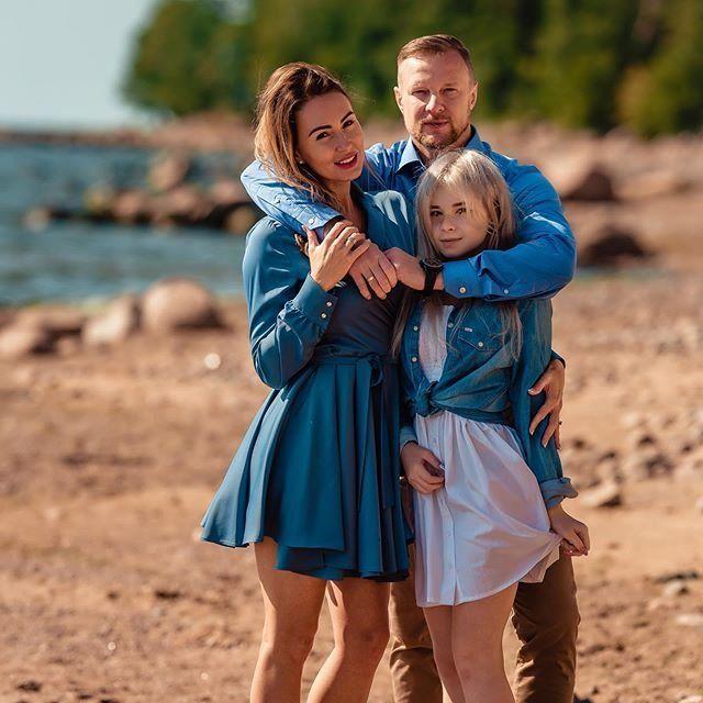 Ксения Малафеева с семьей