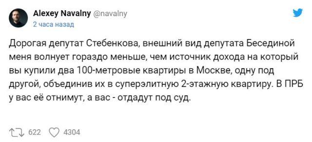 Твит Алексея Навального