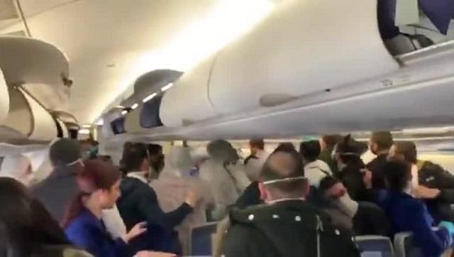 Драка в самолете