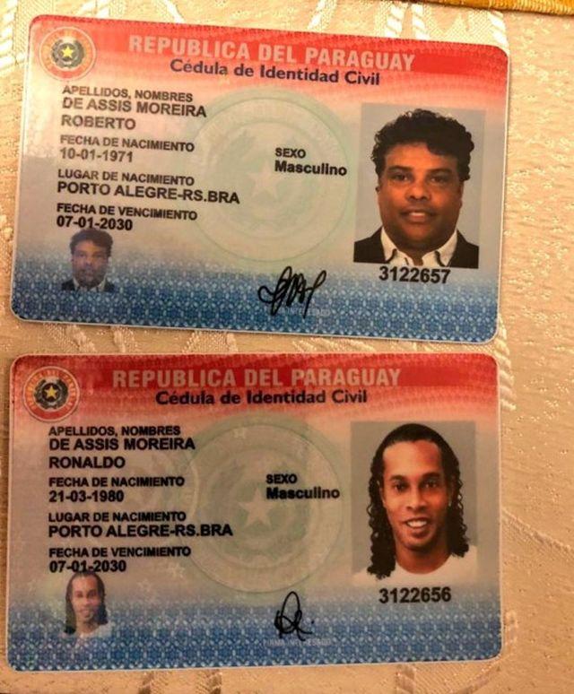 Поддельные паспорта Роналдиньо и его брата