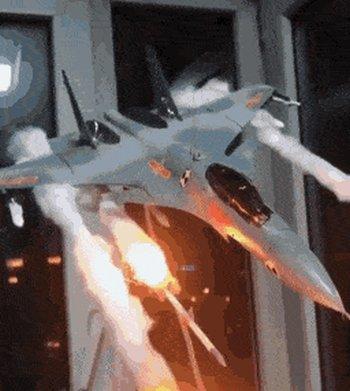 Превью диорама истребитель в бою