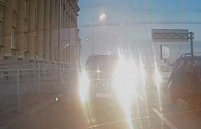 Автомобили в центре Петербурга