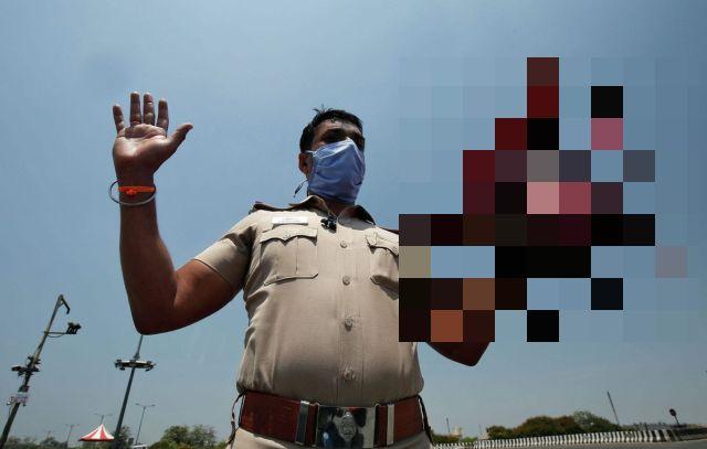 Полицейский из Индии Раджеш Бабу