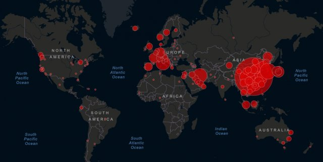 Карта коронавируса