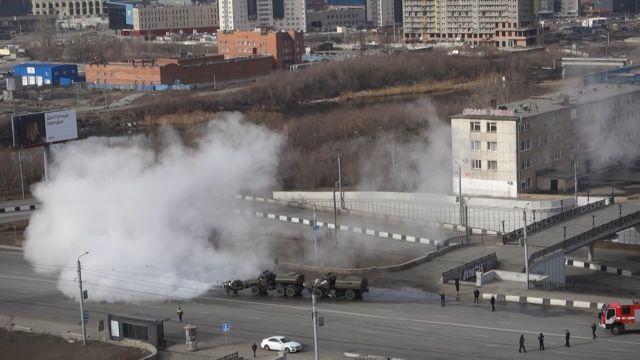Дезинфекция дорог в Челябинске
