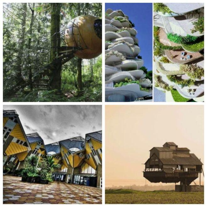 Пять домов, которые как-будто нарушают законы физики (5 фото)