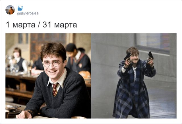 """Флешмоб в Твиттере: """"1 марта vs. 31 марта"""""""